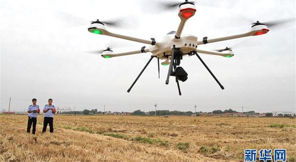 河北:無人機監控 嚴防秸稈焚燒