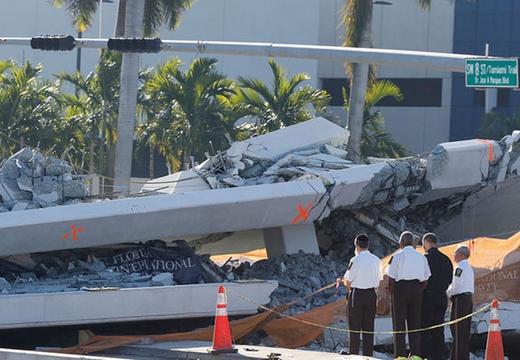 美佛羅裏達發生天橋坍塌事故 遇難者上升至10人