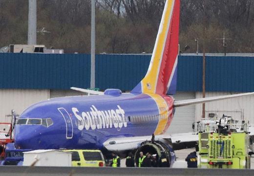 美國一客機發生引擎爆炸事故緊急迫降 致1死7傷
