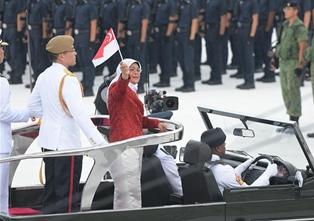 新加坡舉行國慶54周年慶典