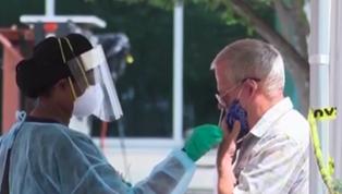 美國約20個州新冠肺炎感染率升高