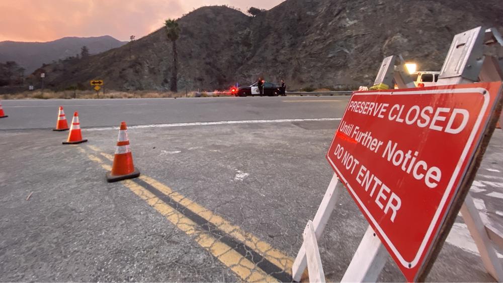 加州山火致森林公園關閉