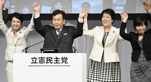 日本在野黨重組成立新的最大在野黨