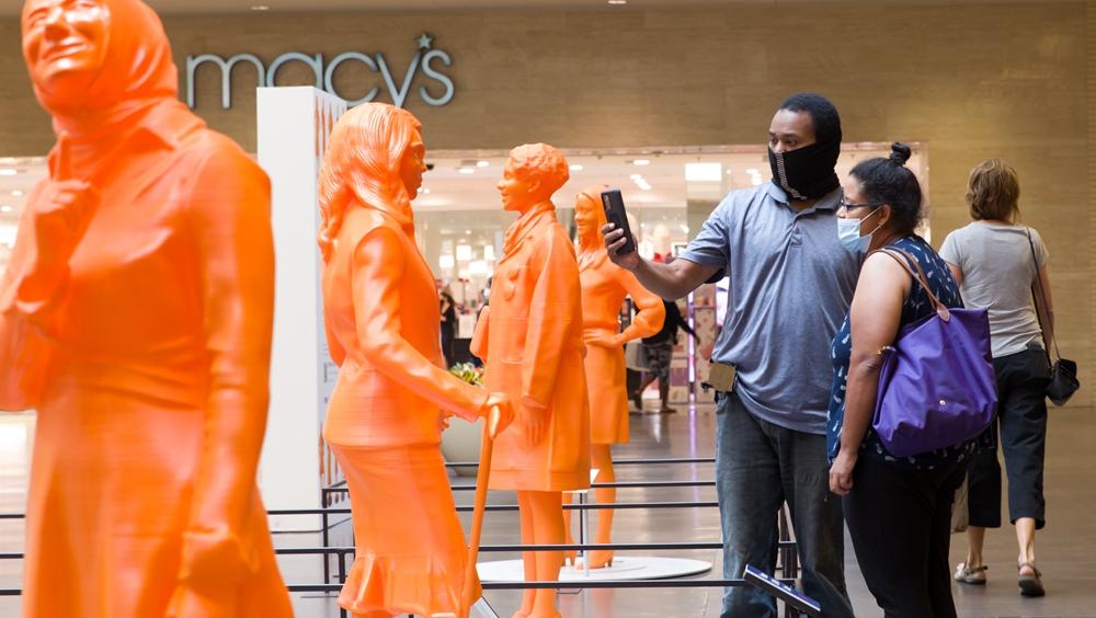 美國達拉斯展出3D打印的女性科學家雕像