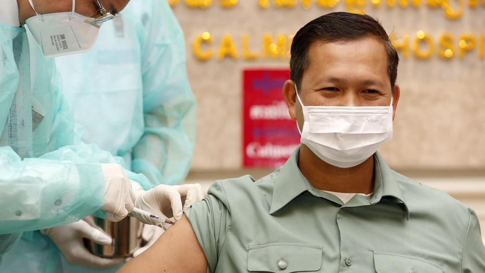 柬埔寨開始接種中國疫苗