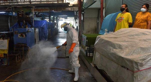 泰國:生鮮市場消毒