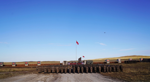 """""""和平使命-2021""""上合組織聯合軍演""""中國營""""舉行開營儀式"""