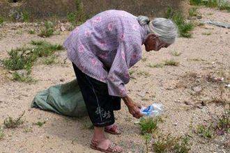 八旬老人拾荒養家:光有同情還是不夠