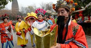 西安:新春廟會 年味依舊