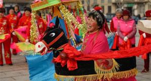 山東榮成:民俗表演迎新春