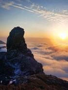 梵凈山現夕陽雲海景觀