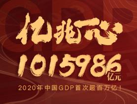 億兆一心!2020年中國GDP首次超百萬億!
