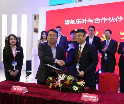隆基樂葉與新華網戰略合作