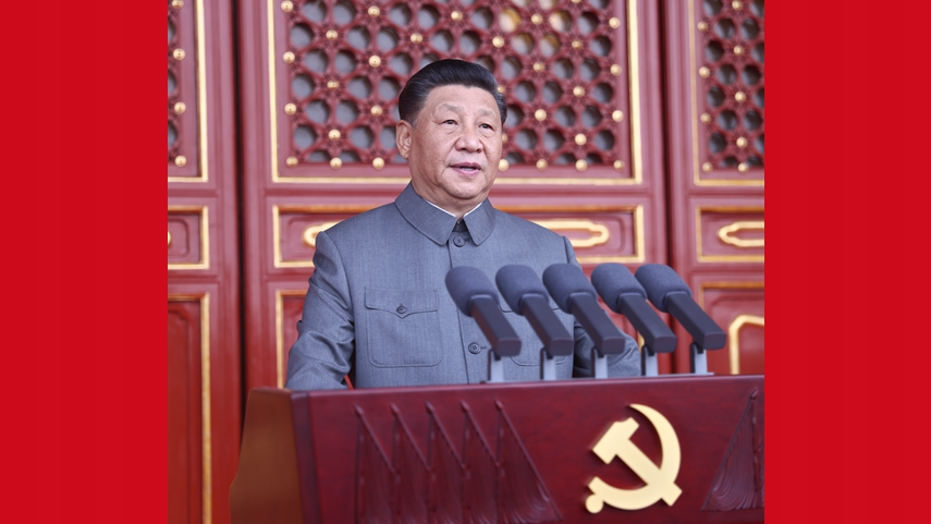 """Xi rallies Party for """"unstoppable"""" pursuit to national rejuvenation as CPC celebrates centenary"""