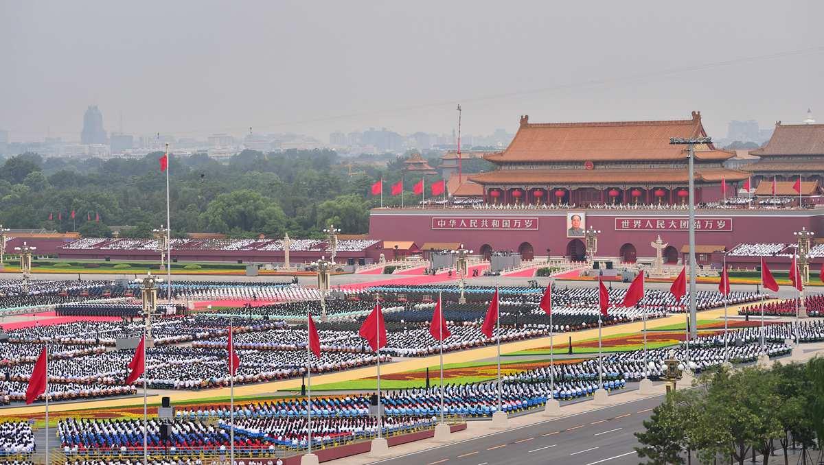 China holds ceremony celebrating CPC centenary