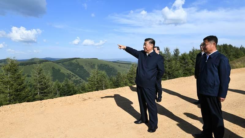 Xi stresses promoting Saihanba Spirit, striving for economic-social development goals