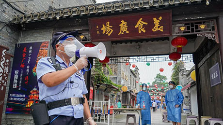 Daily life of workers amid recent COVID-19 resurgence in Yangzhou