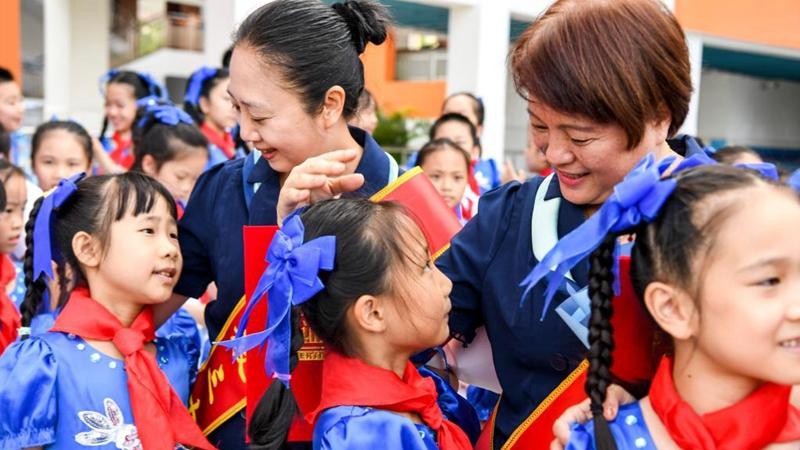 Schools celebrate Teachers' Day via thematic activities across China