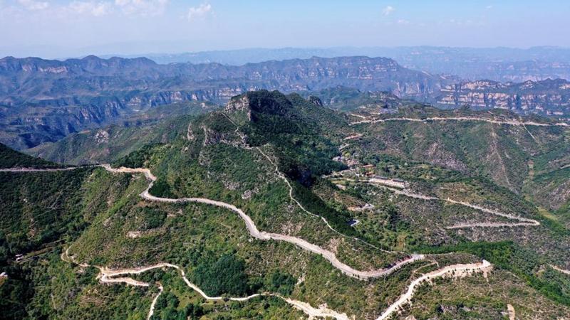 "In pics: ""Taihang Sky Road"" in Pingshun County, Shanxi"