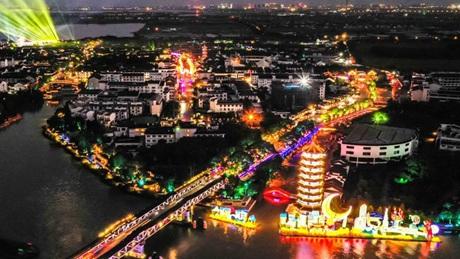 Lantern fair held to celebrate Mid-Autumn Festival in Jiangsu