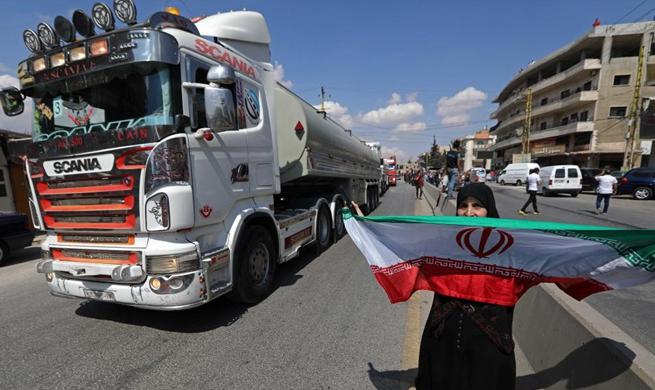 Lebanon receives tanker trucks carrying Iranian oil