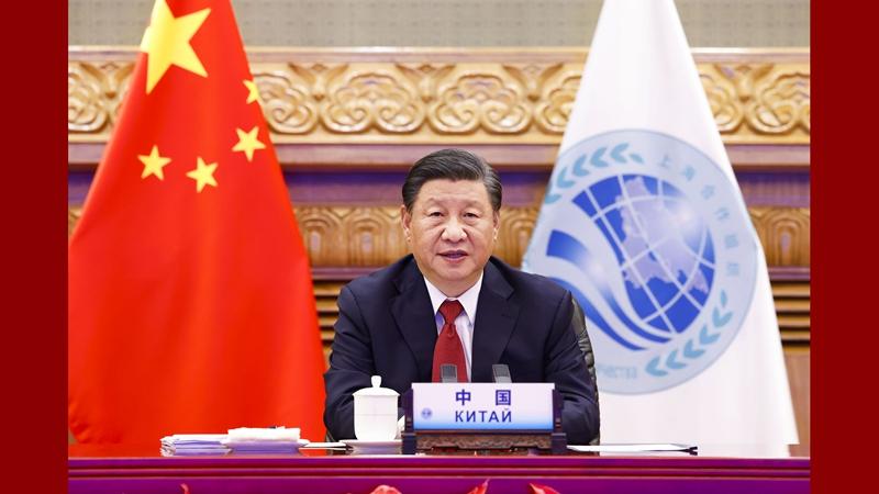 Xi addresses SCO meeting via video link