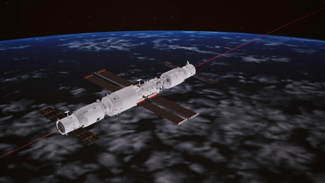 China's cargo craft docks with space station core module