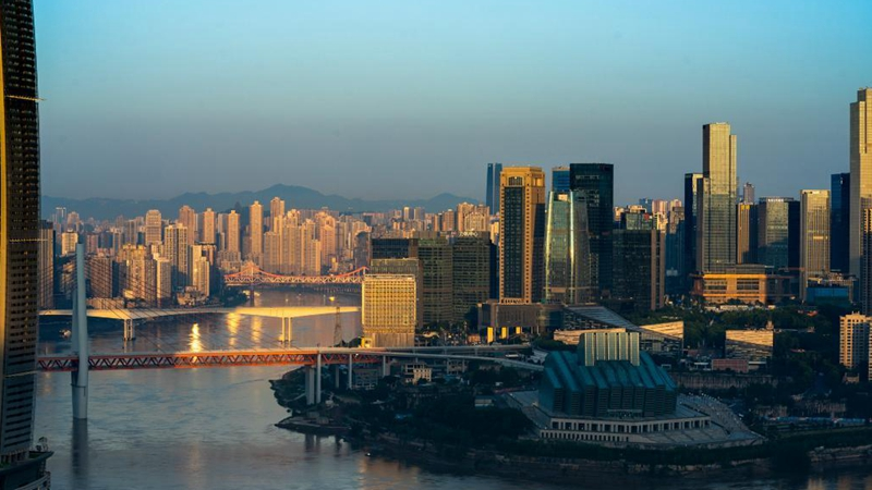 In pics: early morning view of southwest China's Chongqing