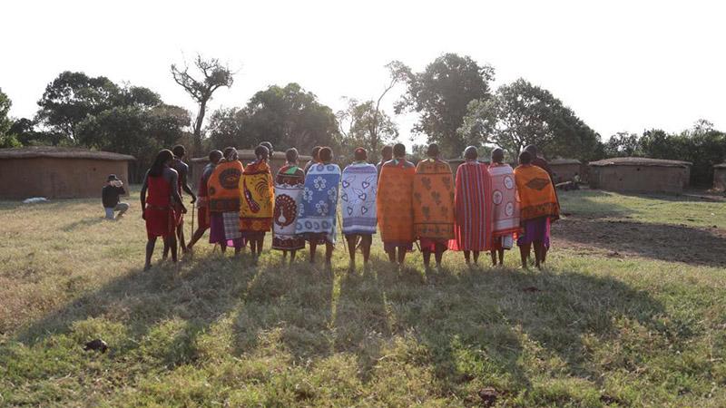Daily life at Maasai tribe in Kenya