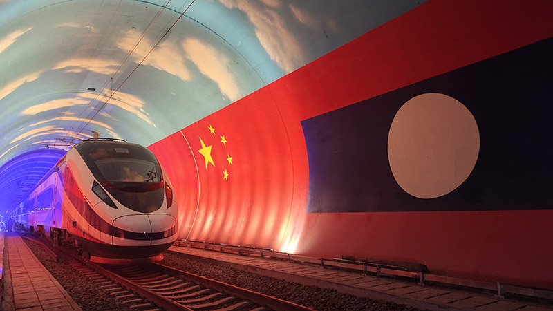 Bullet train for China-Laos railway arrives in Vientiane
