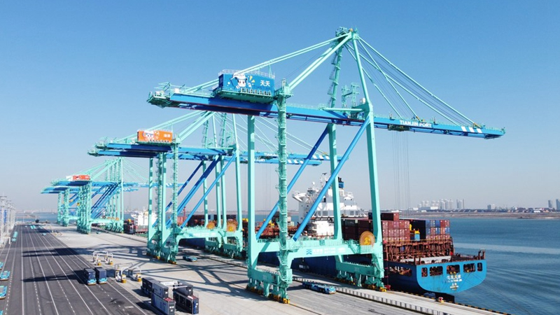 GLOBALink | World's first zero-carbon intelligent container terminal put into operation in Tianjin