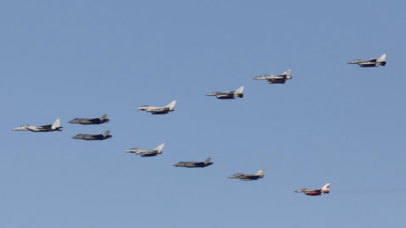 In pics: honorary flyover of air combat exercise in Jerusalem