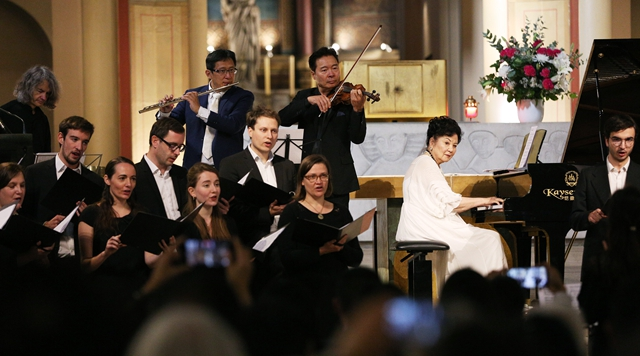 Charity concert staged in Paris, France