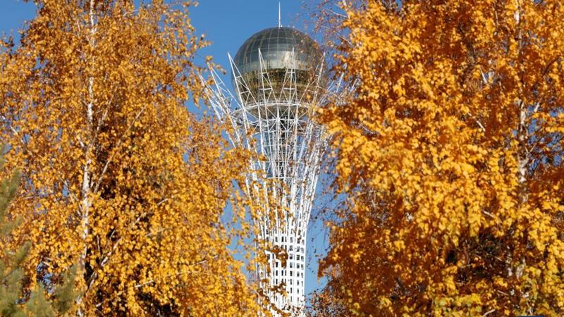 Autumn scenery in Nur-Sultan, Kazakhstan