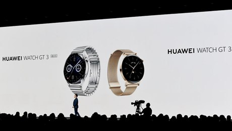 Huawei launches new products in Vienna, Austria