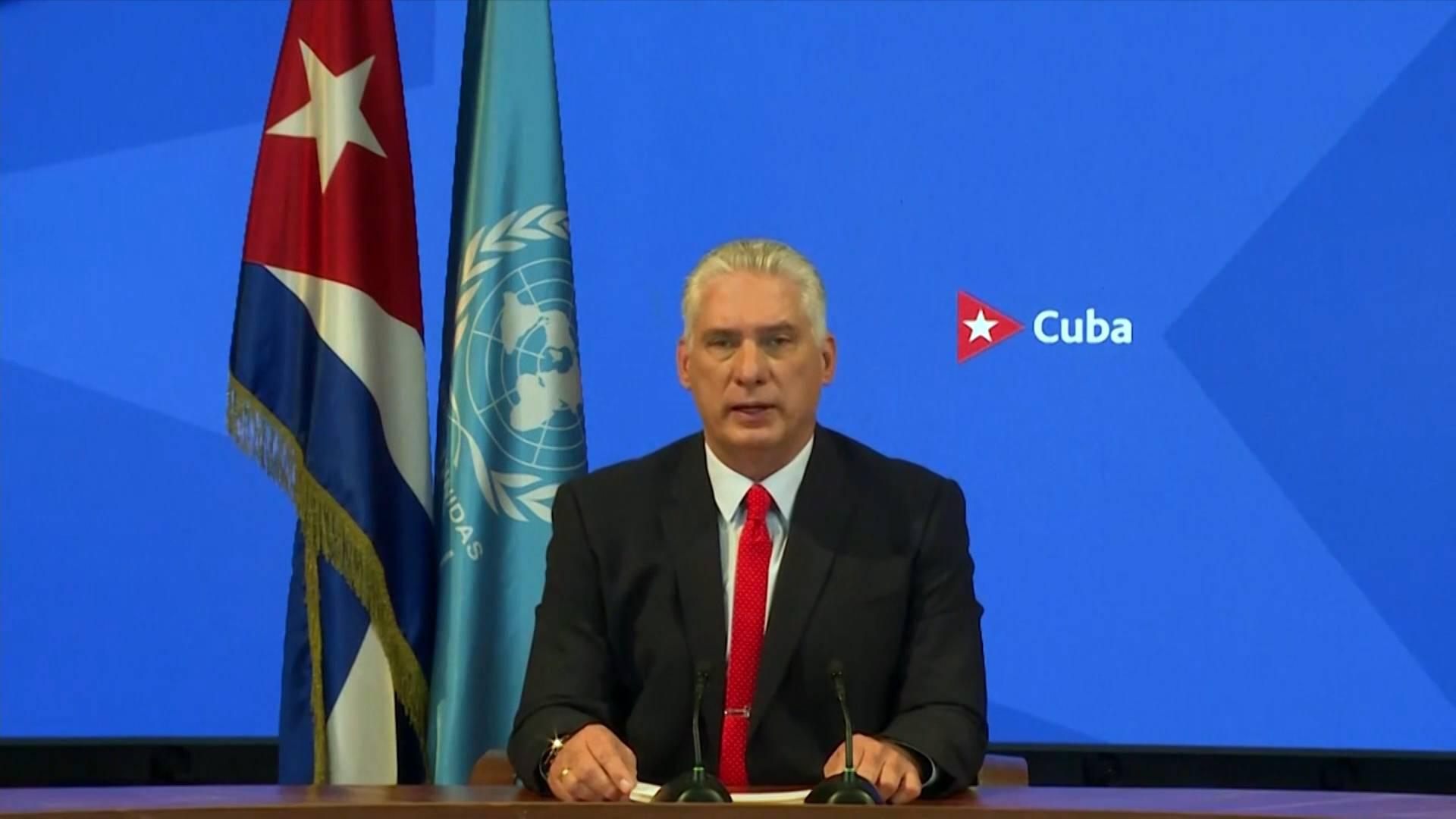 "GLOBALink | Cuban president blames U.S. for heading ""dangerous int'l schism"""
