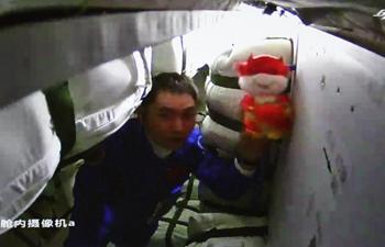 Shenzhou-13 astronauts enter Tianzhou-3 cargo craft