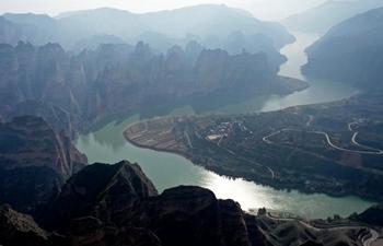Scenery at Bingling Danxia National Geological Park in Gansu