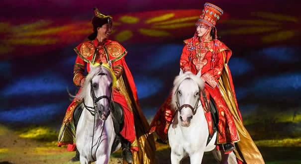 大型馬舞劇《千古馬頌》在呼和浩特上演