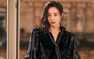 張鈞甯巴黎時裝周看秀 法式波點黑裙浪漫復古
