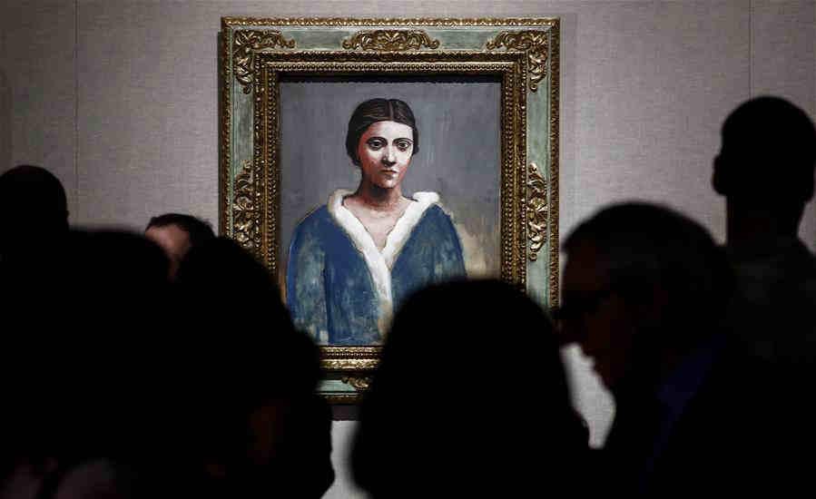 """""""畢加索和霍赫洛娃""""畫展在莫斯科舉行"""