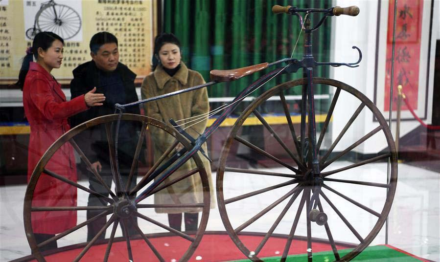 """蘭州:""""古董""""自行車博物館建成將于近日開放"""