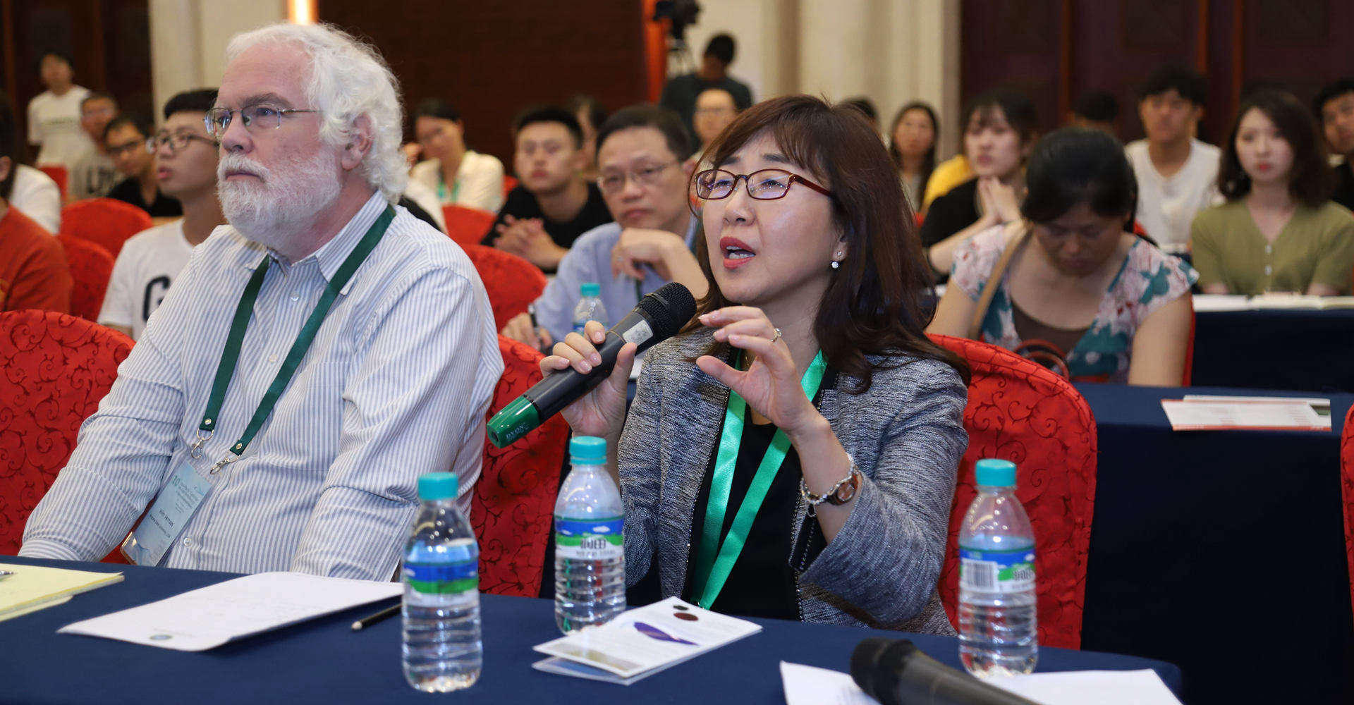 雨生红球藻应用创新国际学术论坛现场专家提问