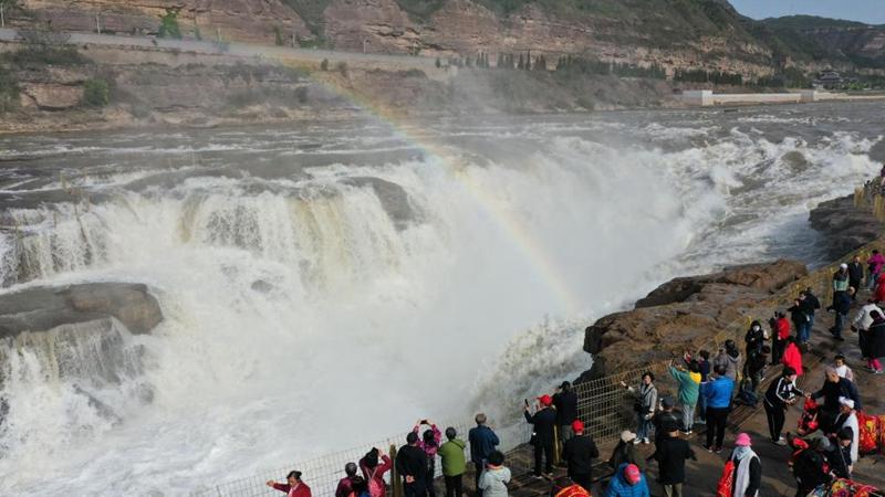 山西吉县 黄河壶口瀑布景区恢复开放