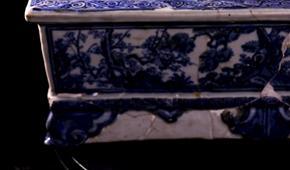 听御窑讲景德镇故事 | 成化无大件?来看青花松竹梅纹长方形花盆