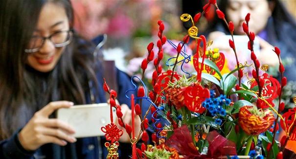 北京:年宵花展迎春節