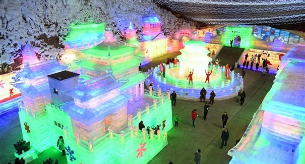 北京延慶:冰燈迎新春