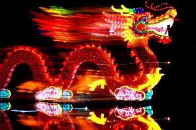 呼和浩特河燈展開幕 歡慶內蒙古自治區成立70周年