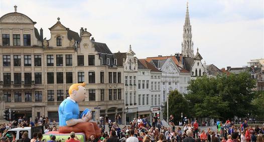 比利時布魯塞爾舉辦漫畫節