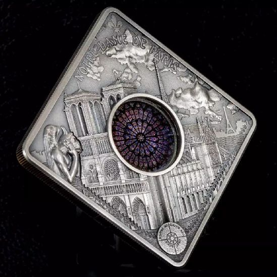 幸好錢幣定格了巴黎聖母院最美的模樣
